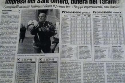 (Amarcord) La prima sconfitta del Teramo capolista in Lega Pro: Sant'Omero – Real Teramo(1-0)