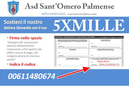 Dona il tuo 5×1000 all'Asd Sant'Omero Palmense!