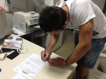 D'Ignazio firma per l'Asd Sant'Omero Palmense