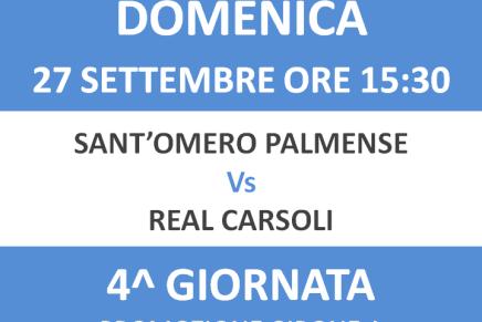 Programma gare: prima squadra contro il Real Carsoli, inizia anche laJuniores!